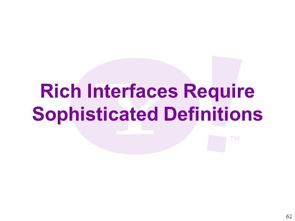 62 Rich Interfaces Require Sophisticated Definitions