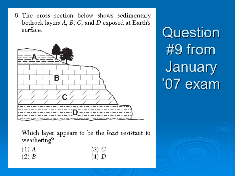 Question #9 from January '07 exam