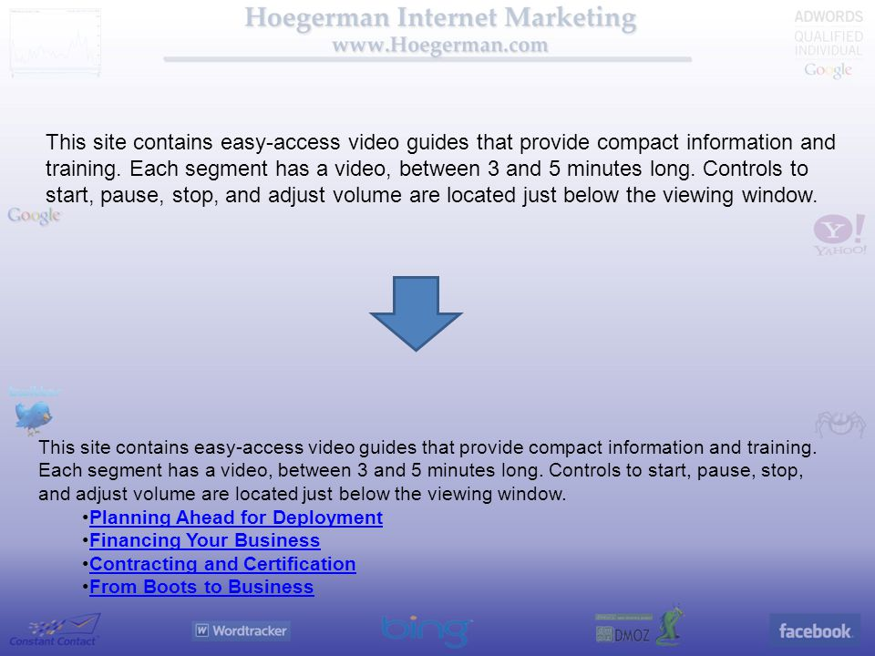 This site contains easy-access video guides that provide compact information and training.