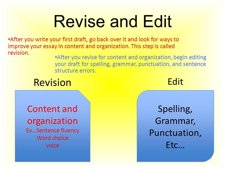 Revision Essay