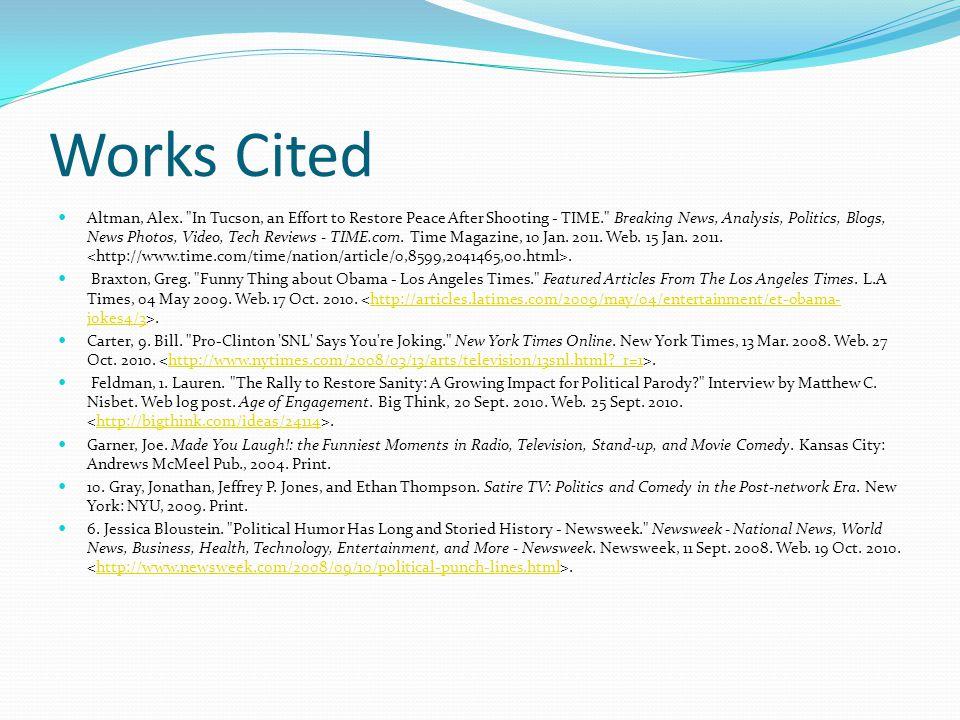 Works Cited Altman, Alex.