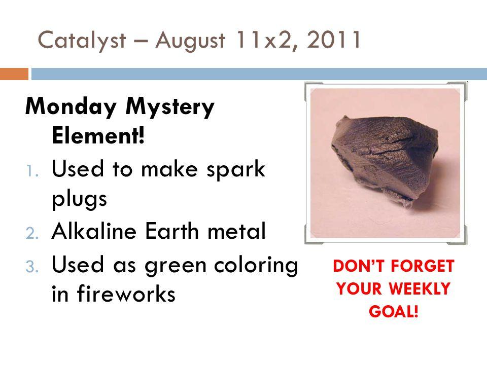 Catalyst – January 2(6), 2011 WAY BACK WEDNESDAY!!.