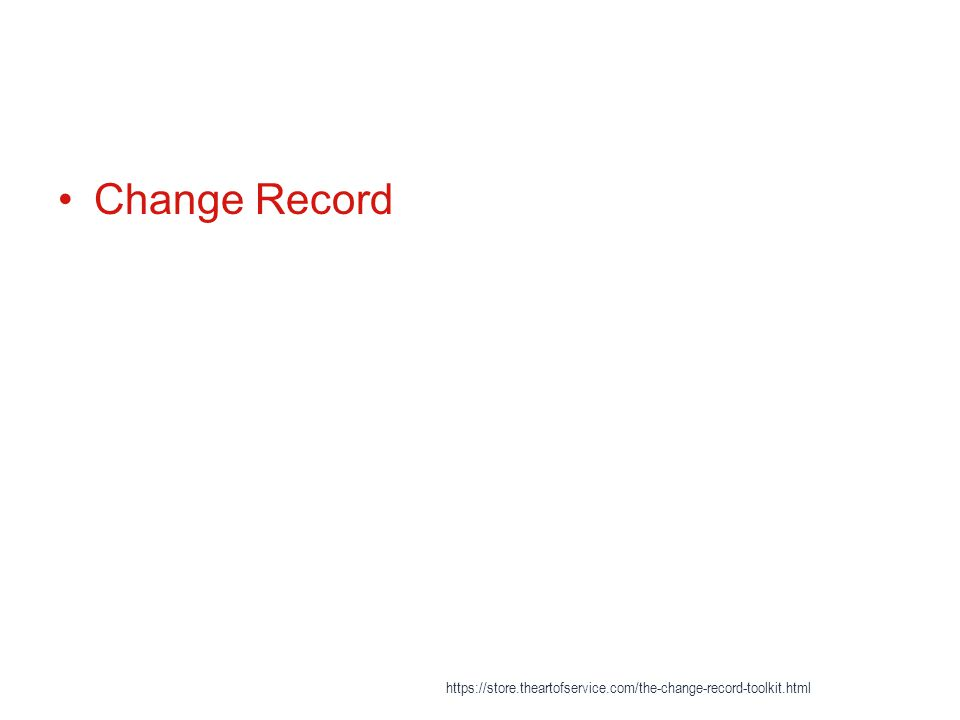 Change Record https://store.theartofservice.com/the-change-record-toolkit.html