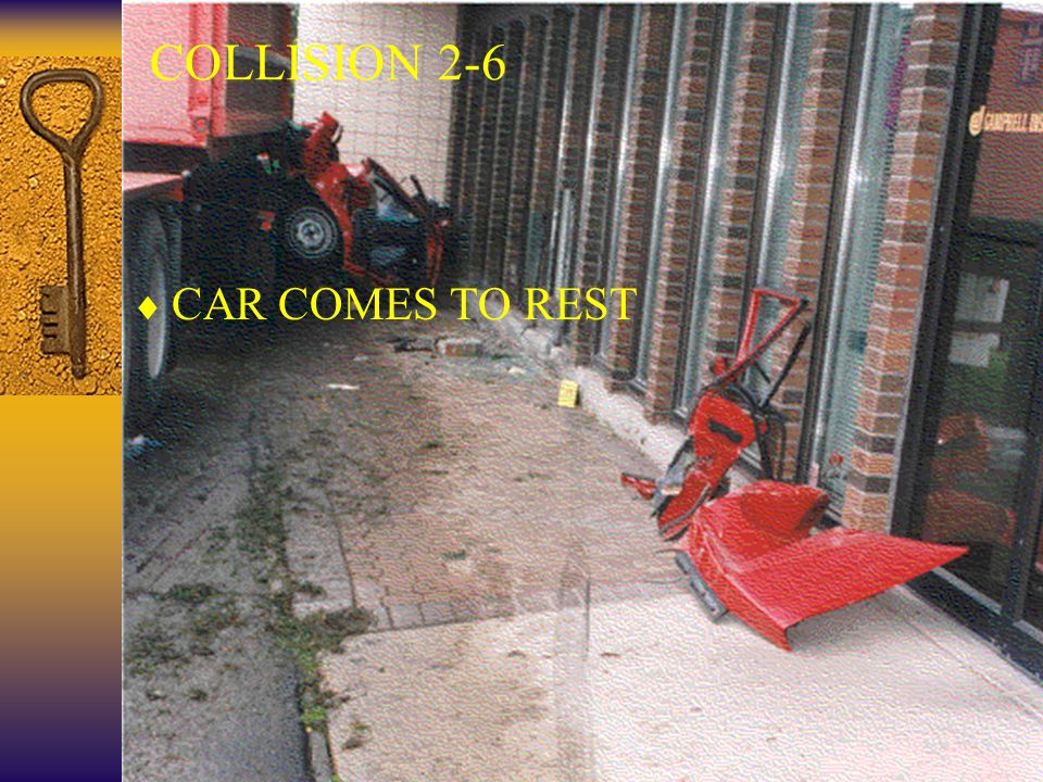 35  CAR COMES TO REST COLLISION 2-6