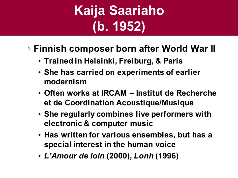 Kaija Saariaho (b.