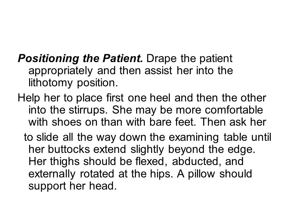 Positioning the Patient.