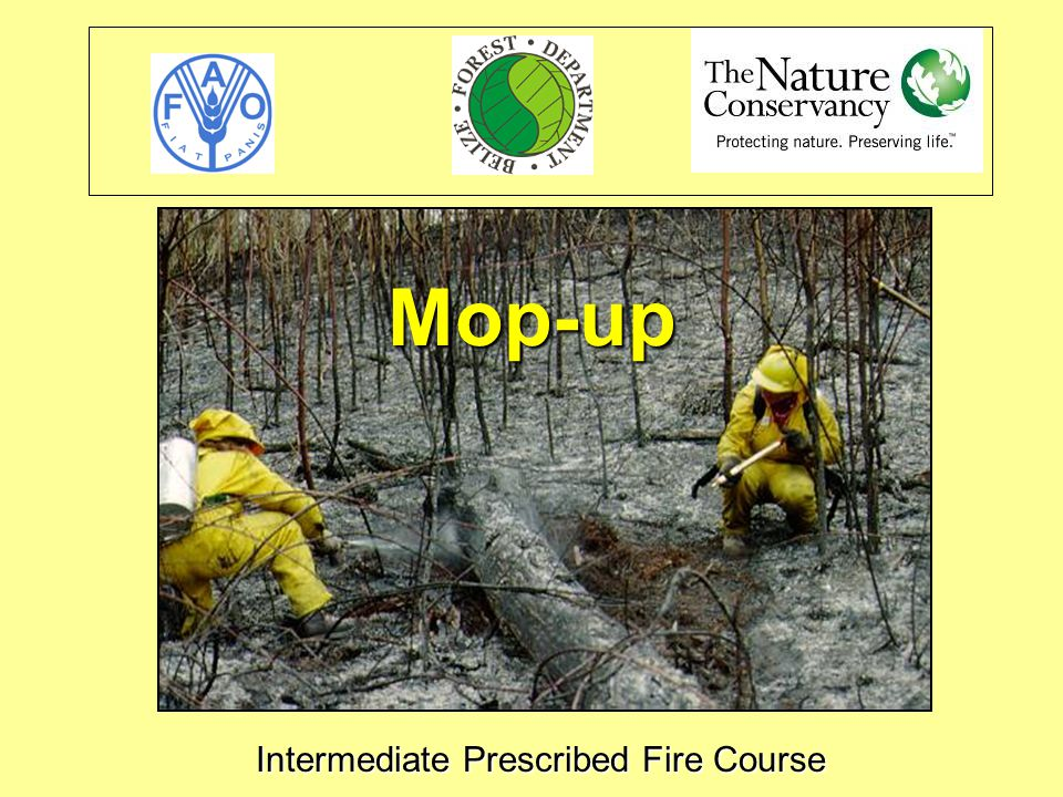 Intermediate Prescribed Fire Course Mop-up