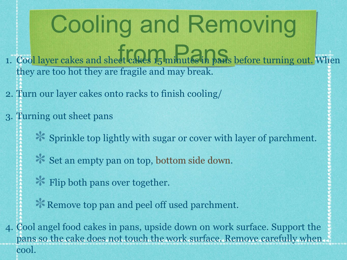 Cooling and Removing from Pans 1.