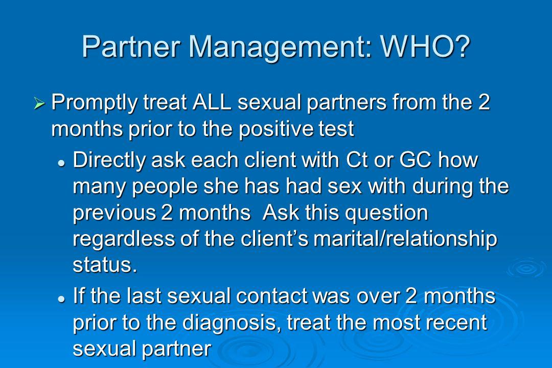 Partner Management: WHO.