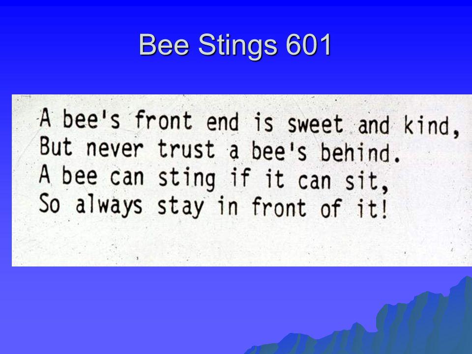 Bee Stings 601