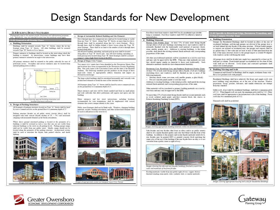 Design Standards for New Development