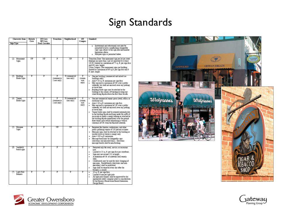 Sign Standards