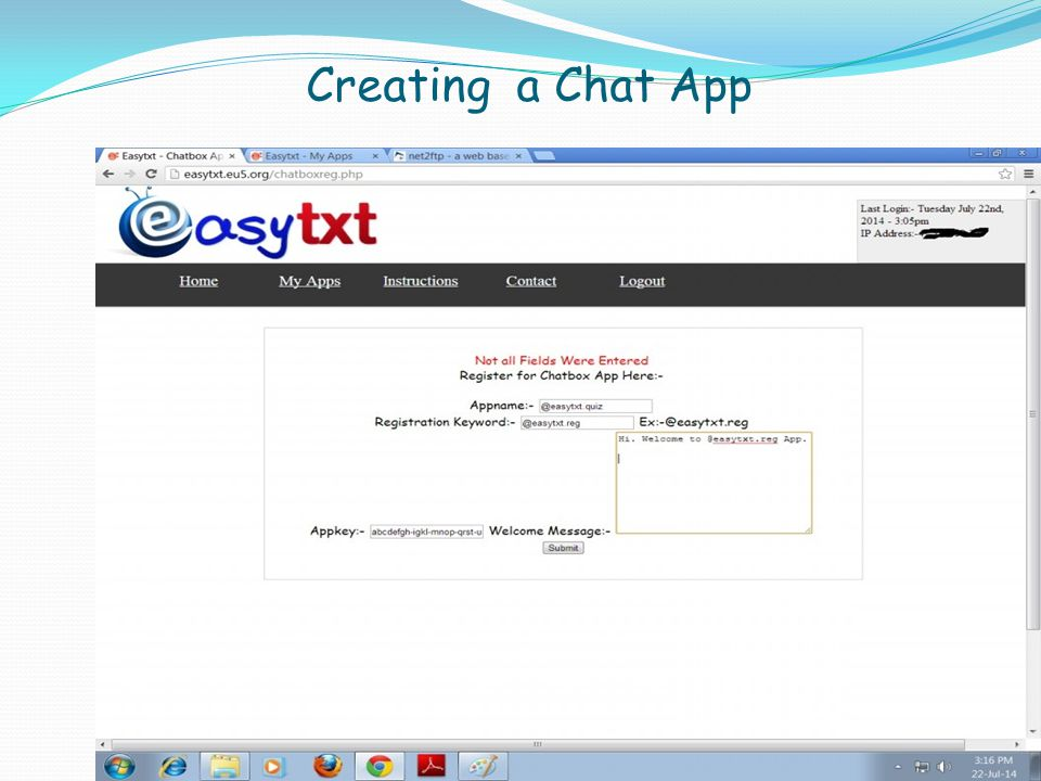 Creating a Chat App
