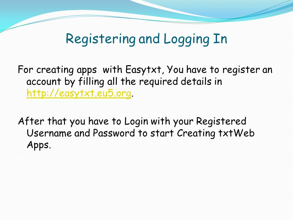Apps Menu After Logging In, You will be presented with the links for Creating txtweb Apps.