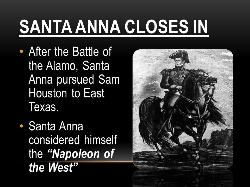 RUNAWAY SCRAPE Texan families fled East towards Louisiana to escape from Santa Anna.