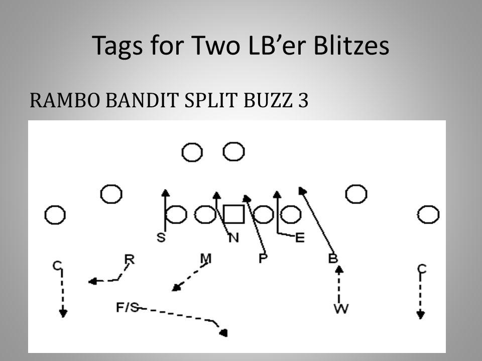 Tags for Two LB'er Blitzes RAMBO BANDIT SPLIT BUZZ 3