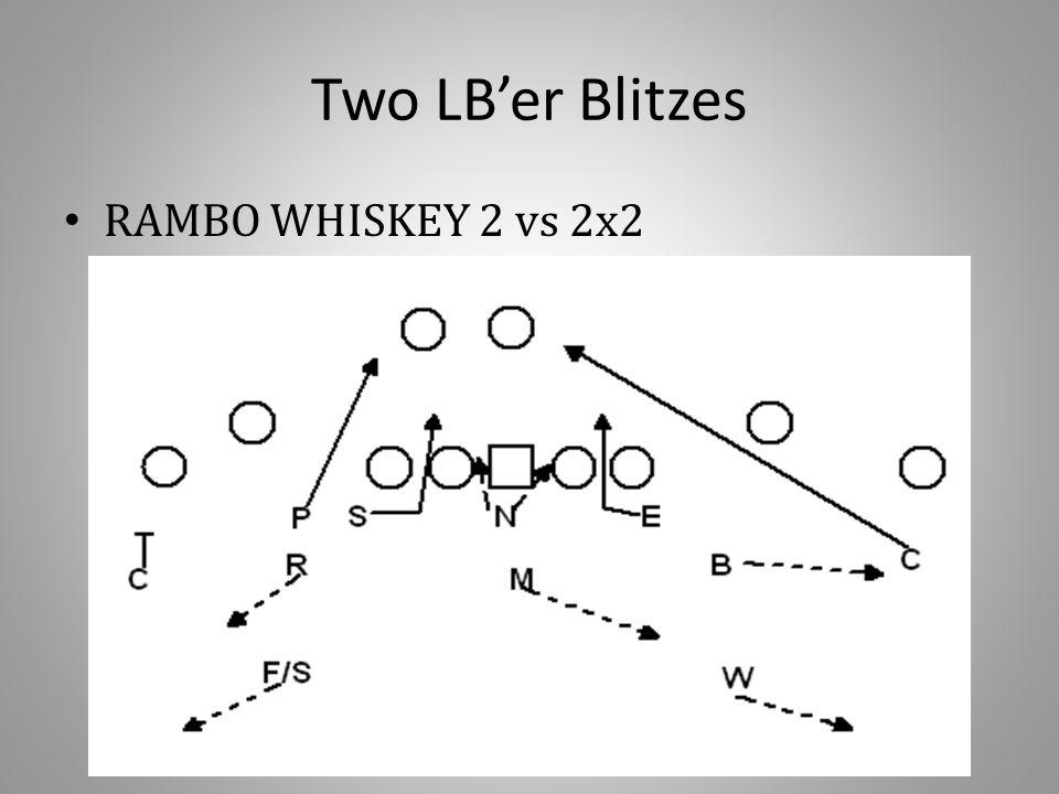 Two LB'er Blitzes RAMBO WHISKEY 2 vs 2x2