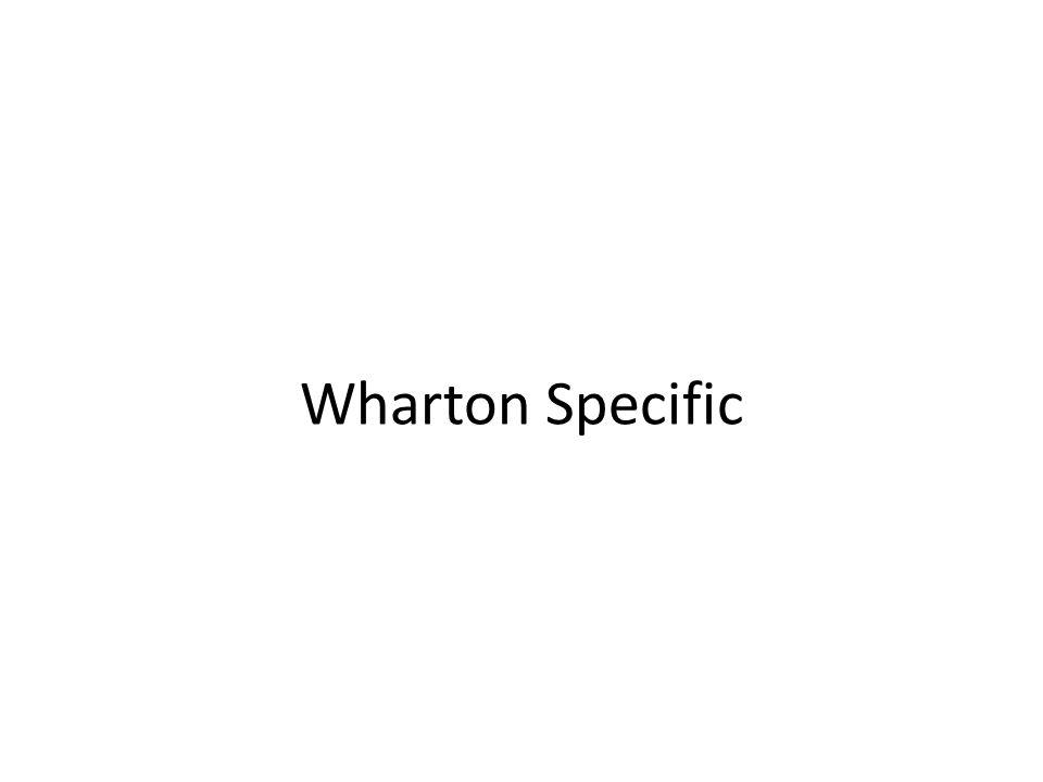 Wharton Specific