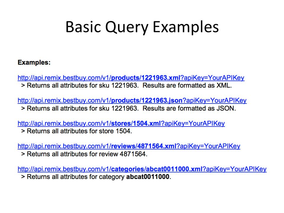Basic Query Examples