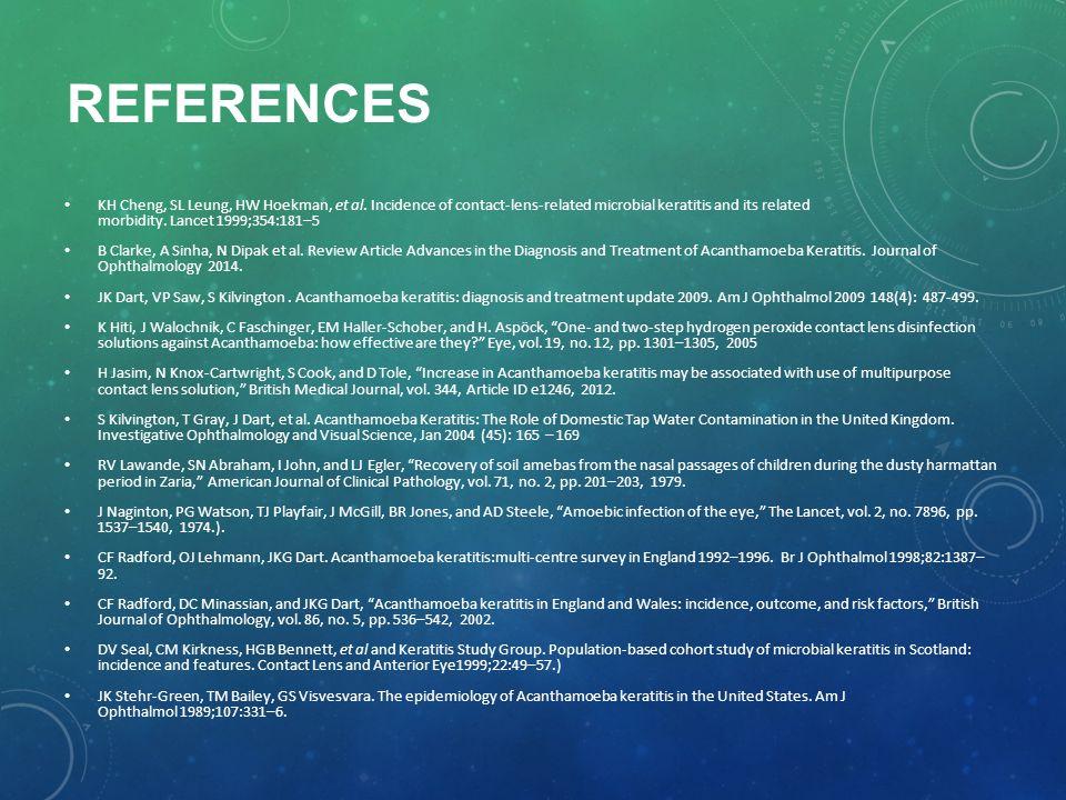 REFERENCES KH Cheng, SL Leung, HW Hoekman, et al.