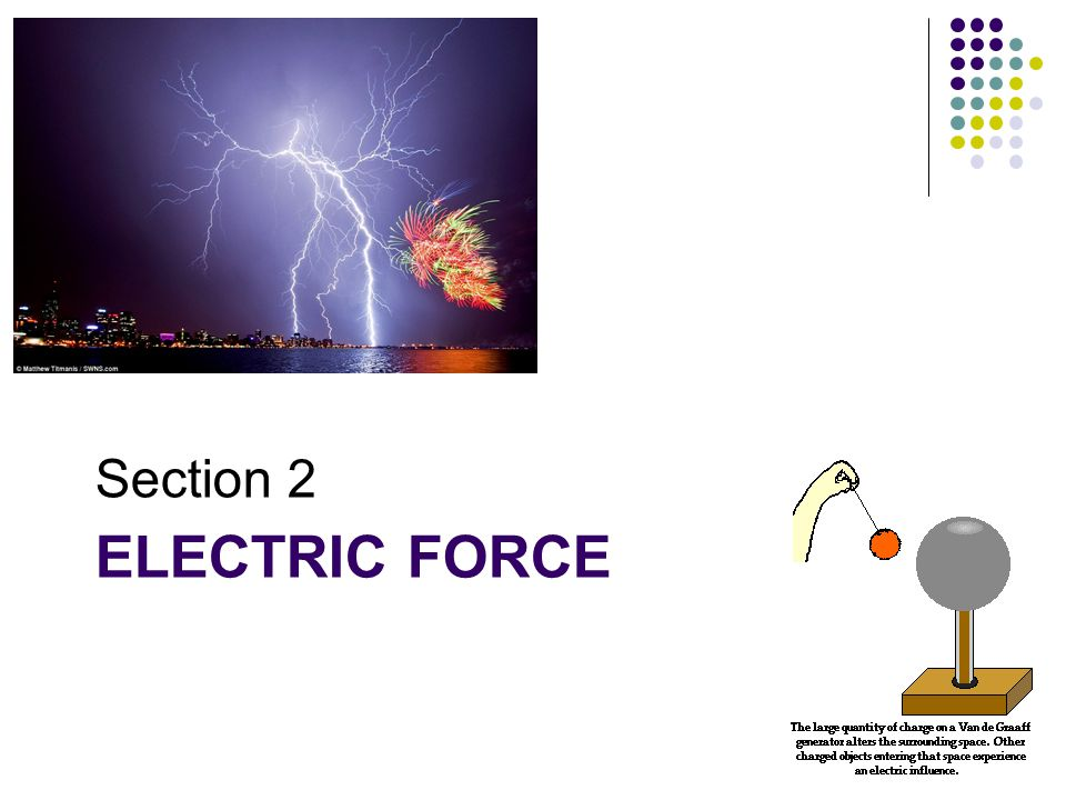 Electric Force When two charged objects are brought close together, they may experience forces of attraction or repulsion.