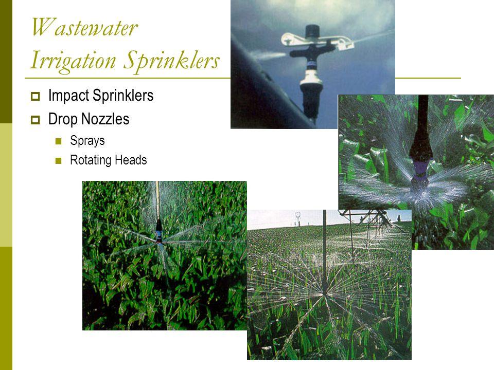 Wastewater Irrigation Sprinklers  Impact Sprinklers  Drop Nozzles Sprays Rotating Heads