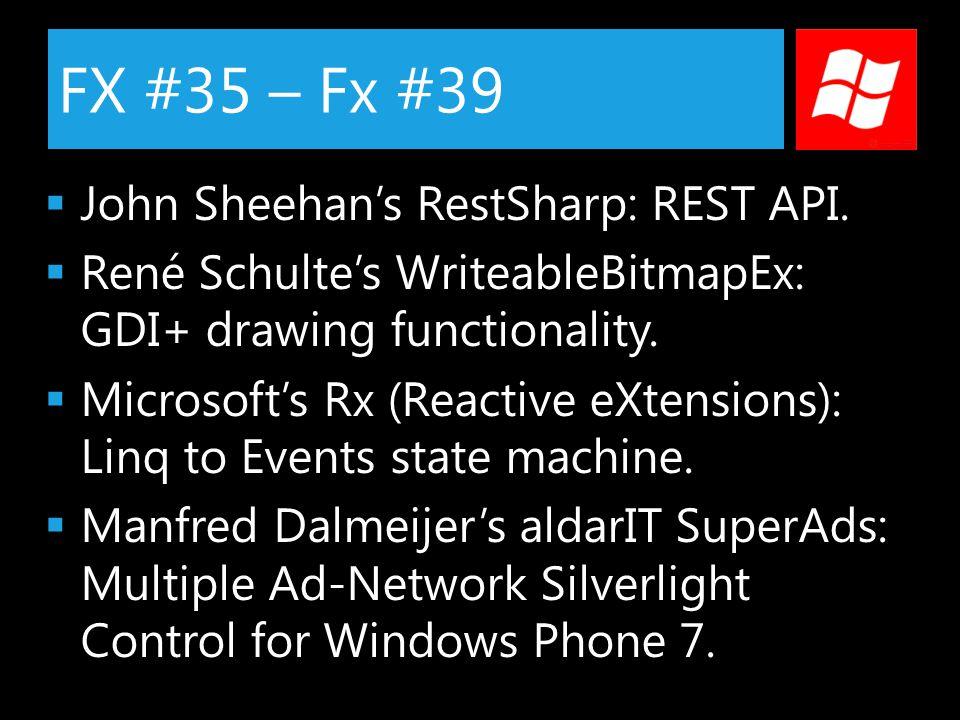 FX #35 – Fx #39  John Sheehan's RestSharp: REST API.