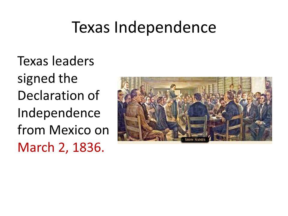 Texas Independence David Crockett was a former state legislator and U.S.