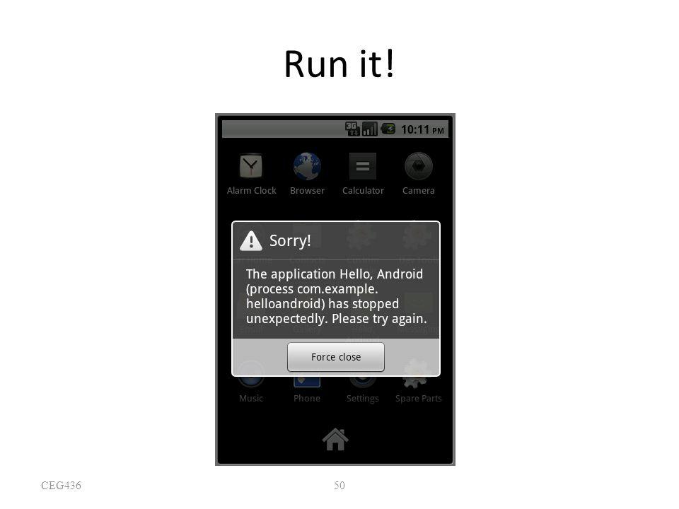 50 Run it! CEG436