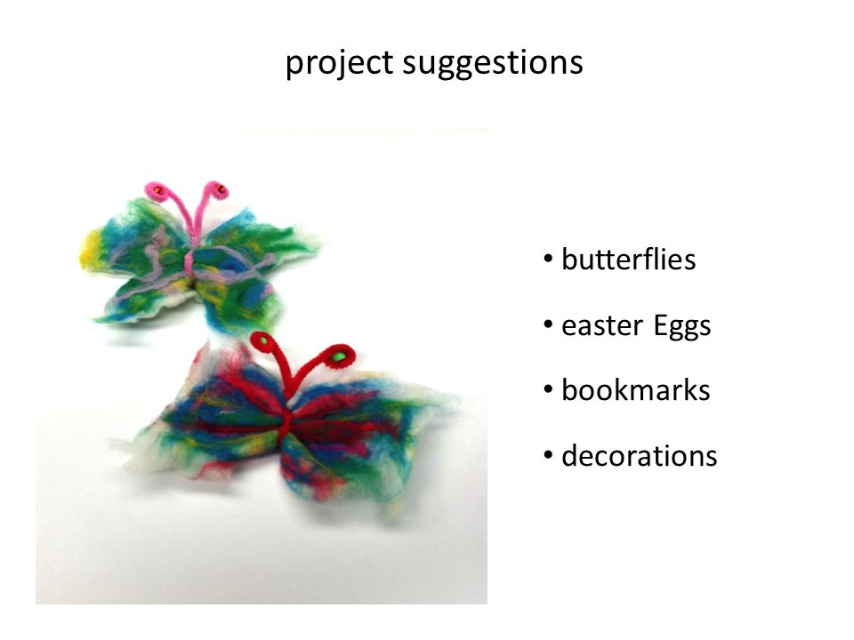 project suggestions butterflies easter Eggs bookmarks decorations