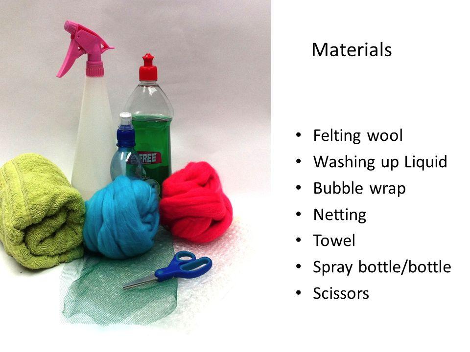 Slide 7 Materials Felting wool- Merino or Corendale is the best.