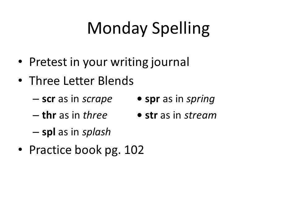 Monday Grammar Irregular Plurals Some nouns have special plural forms.