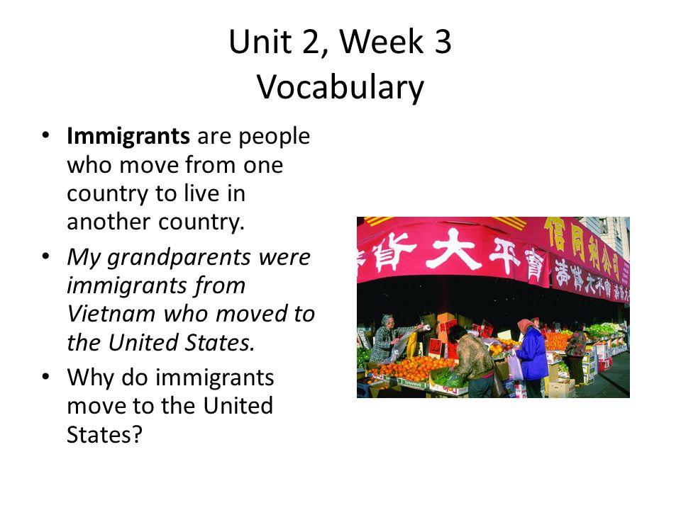 Unit 2, Week 3 Vocabulary If you established something, you started it.