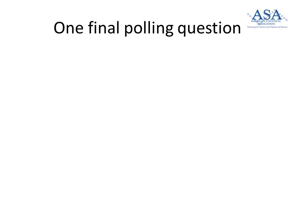 One final polling question