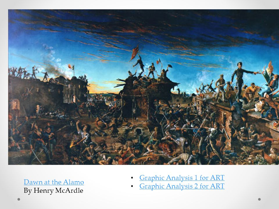 Dawn at the Alamo By Henry McArdle Graphic Analysis 1 for ART Graphic Analysis 2 for ART