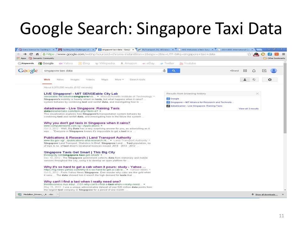 Google Search: Singapore Taxi Data 11