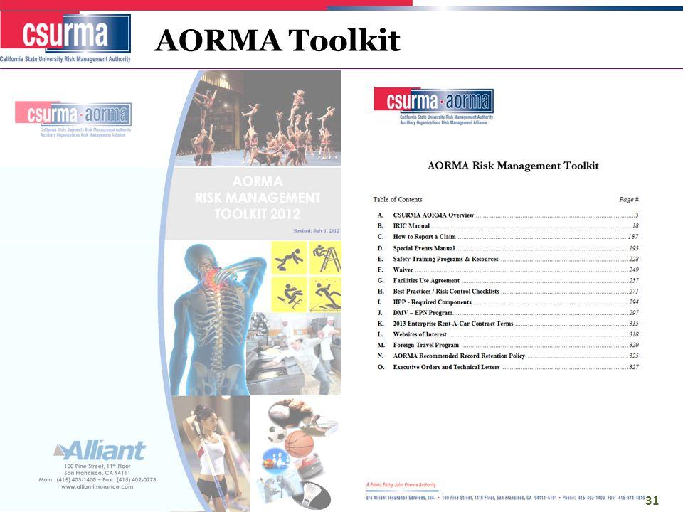 AORMA Toolkit 31