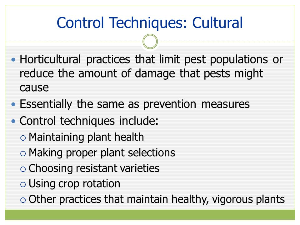 High Tunnel Plant Disease Control Disease management should include the following considerations:  Use plastic mulch combined with trickle irrigation  Keeps foliage dry, reduce splash of soil-borne pathogens  Maintain humidity to remove excess moisture  Provides conditions conducive to certain diseases  Use ventilation and follow plant-spacing guidelines  Use disease-resistant varieties when possible  Always start with disease-free seed and transplants