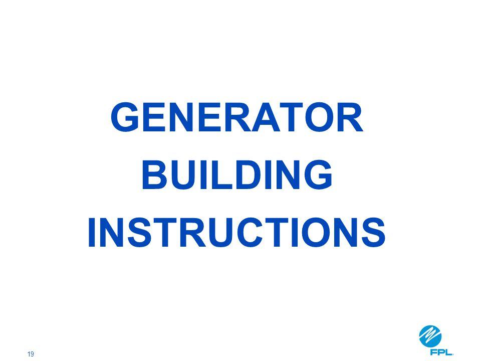 19 GENERATOR BUILDING INSTRUCTIONS
