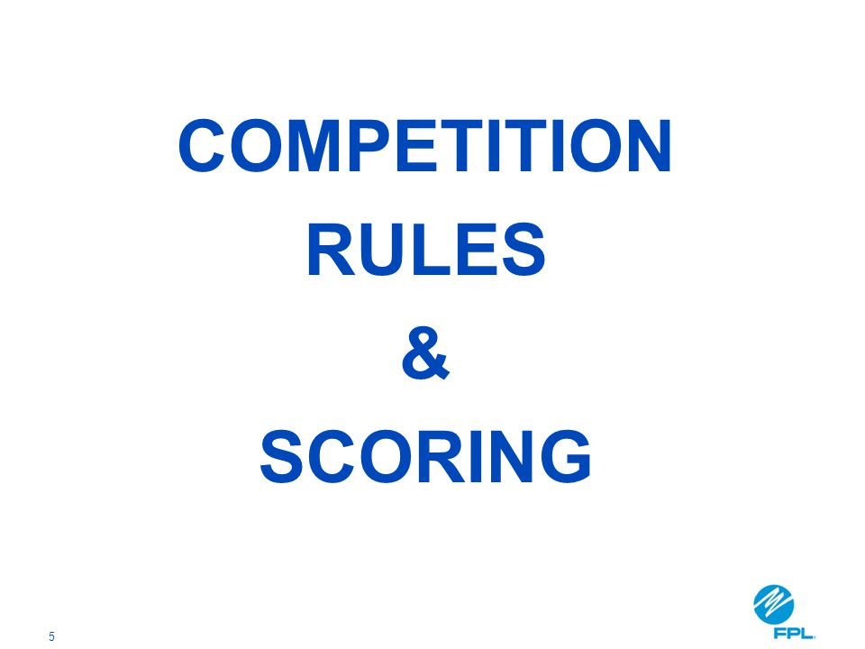 5 COMPETITION RULES & SCORING
