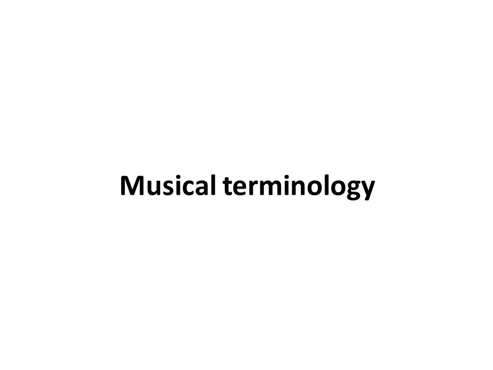 Musical terminology