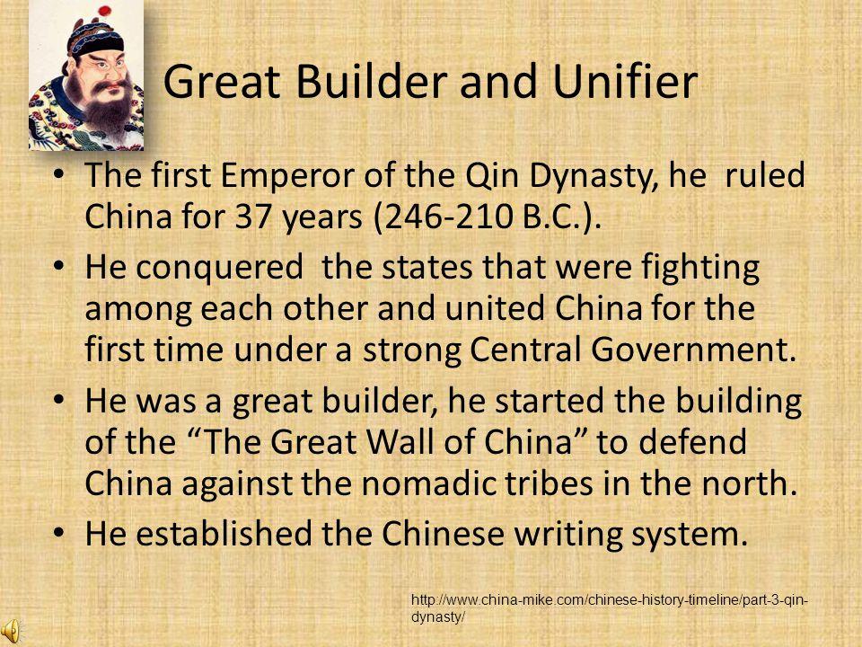 Qin Shi Huangdi The Ancient leader we have chosen is Qin Shi Huangdi.