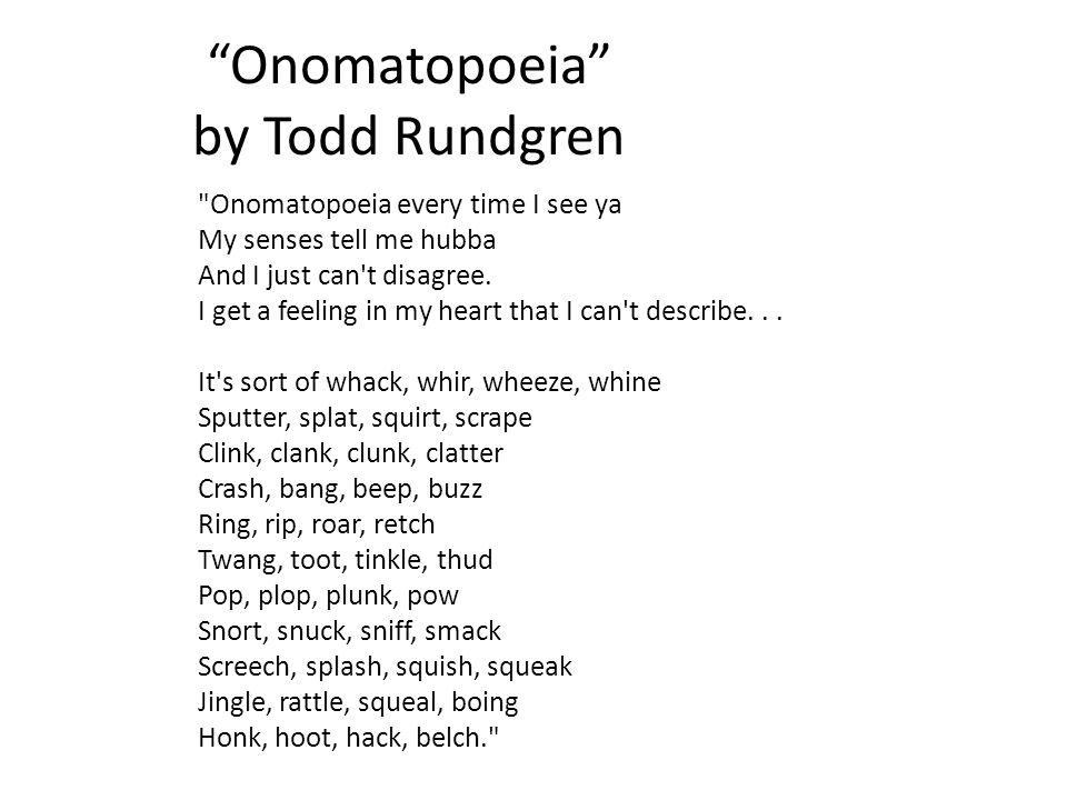 """""""Onomatopoeia"""" by Todd Rundgren"""
