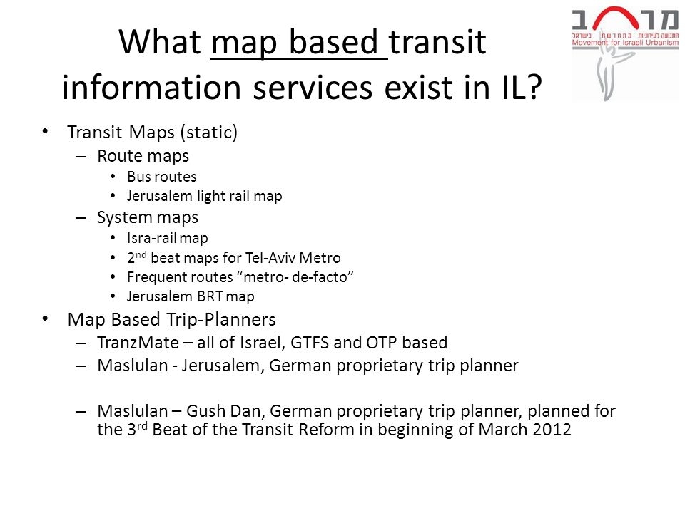 What map based transit information services exist in IL.