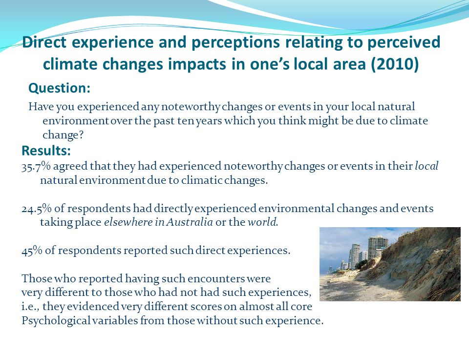 Psychological Processes that Influence Adaptation to and Coping with Climate Change