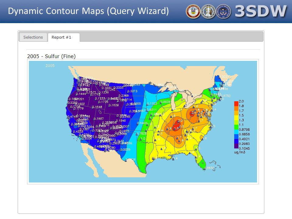 Dynamic Contour Maps (Query Wizard)