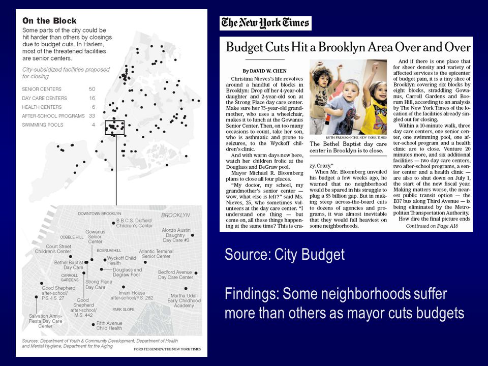 Source: City Budget Findings: Some neighborhoods suffer more than others as mayor cuts budgets