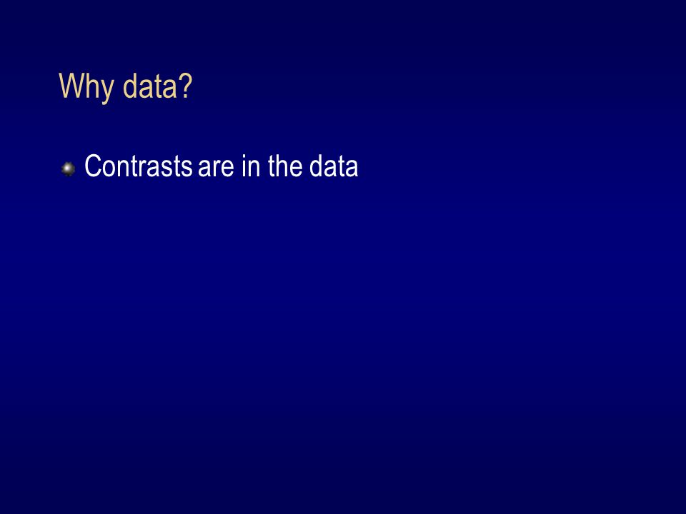 Why data Contrasts are in the data