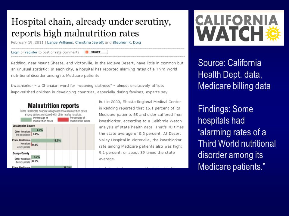 Source: Medicaid outcomes data for dialysis facilities Findings: A CMS online tool did not tell the whole story about facilities.