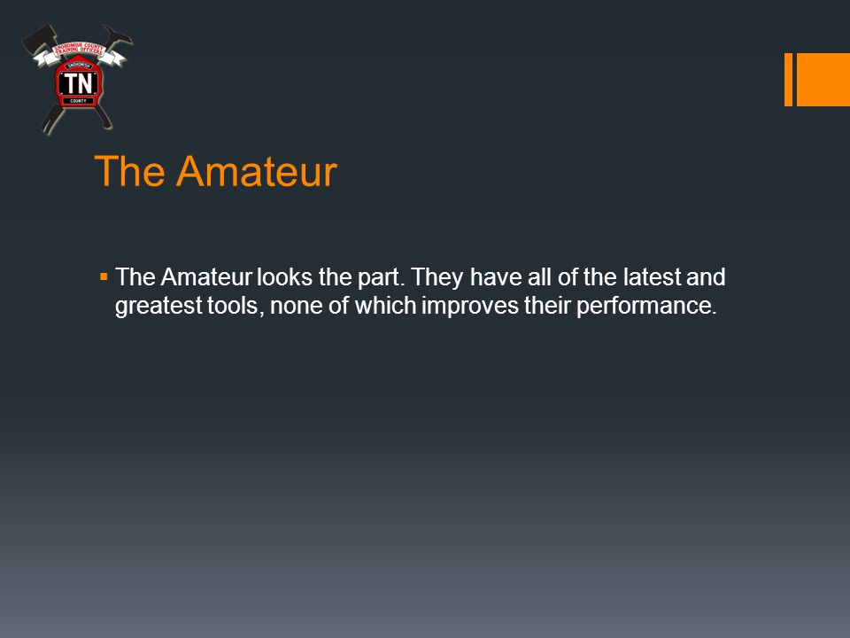 The Amateur  The Amateur looks the part.